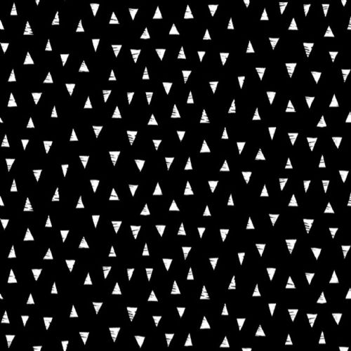 Makower Monochrome Triangles Patchwork Fabric